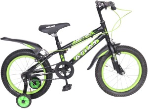 Atlas Mettle Sports Bike For Kids Age Of 5 7yrs Black Green 16 T