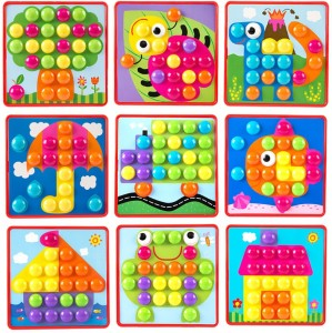 Goappugo Creative Activity Toys For 1 2 3 Year Old Boy Girls Kids 40 Colorful Large