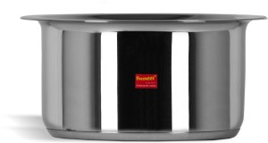 Sumeet Stainless Steel Induction Bottom (Encapsulated Bottom) Induction & Gas Stove Friendly Container / Tope / Cookware With Lid Size No.13 Pot 2.3 L