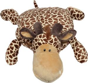 Babies Bloom Giraffe Shaped Pillow /Toy cum Mink Blanket  - 25 cm