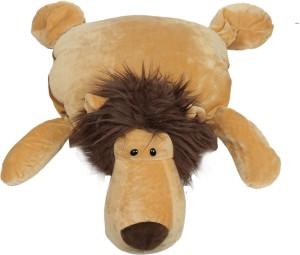 Babies Bloom Lion Shaped Pillow /Toy cum Mink Blanket  - 25 cm