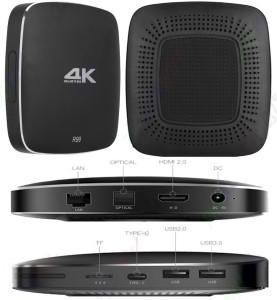 MBOX R99 4K Android 6 0 TV Box 4GB RAM 32GB ROM Hexacore RK3399 CPU  Bluetooth Dual Wifi DLNA Media Streaming DeviceBlack