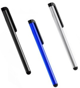 De-TechInn Universal Round-head Capacitive Touch Screen Pen Metallic Color Stylus ( Pack OF 3 ) Stylus