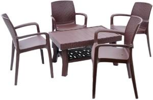 Supreme Plastic 4 Seater Dining Set