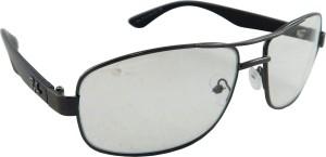 2d1c2e3ec101 Riy Don Rectangular Sunglasses ( Clear Grey )