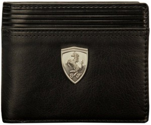 Puma Boys Black Genuine Leather Wallet