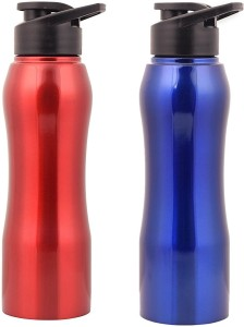 ace1208ae5 Zafos Stainless Steel Water Bottle - Lacquer Red & Red ,750ml , 2PC (Won