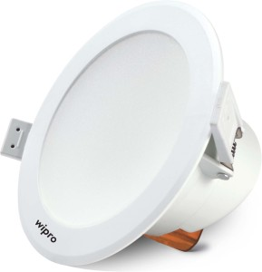 new concept 7691c 44e03 Wipro Garnet 15W Wave Downlight 2700K Recessed Ceiling Lamp