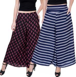 Tashi Flared Women's Blue Trousers