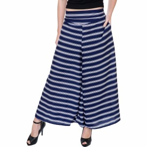 Tashi Flared Women Blue Trousers