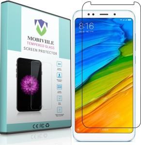 MOBIVIILE Tempered Glass Guard for Mi Redmi 5 Plus, Xiaomi Red mi Note 5