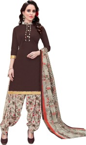 Saara Crepe Printed Salwar Suit Dupatta Material Un stitched
