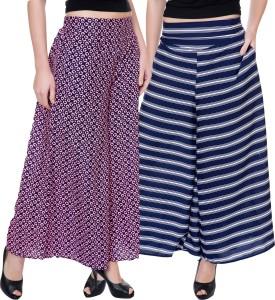 Tashi Flared Women's Multicolor Trousers