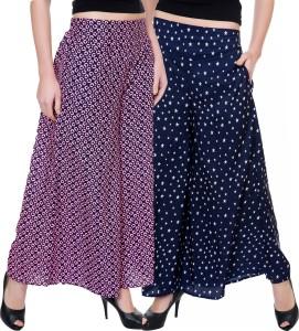 Tashi Flared Women Multicolor Trousers