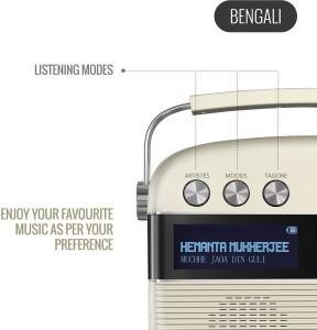 saregama Carvaan Bengali Bluetooth Home Audio SpeakerProrcelain White,  Stereo Channel