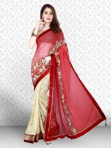 Divastri Embroidered Bollywood Cotton Blend Saree