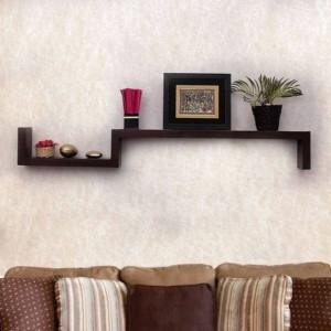 MartCrown nice wall decor office rack shelf Wooden Wall Shelf