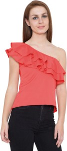 Slenor Party Sleeveless Solid Women's Pink Top