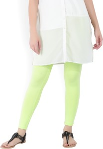 419b066a8aeed W Solid Women s Light Green Tights Best Price in India | W Solid ...