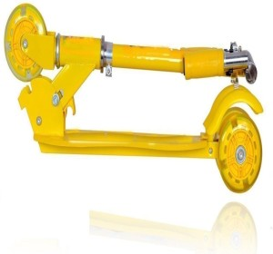 d250aaa9087 sajani Foldable 3 Wheeler Cycle or Scooter Height Adjustable with Hand break  and Bell Yellow Tricy Yellow Best Price in India   sajani Foldable 3 Wheeler  ...