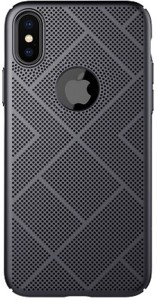 Nillkin Back Cover for Nillkin Heat Dissipation Hard PC Matte Air Case Back Cover for Apple iPhone X (BLACK)