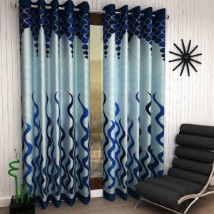 Home Garage 153 cm (5 ft) Polyester Window Curtain (Pack Of 2)