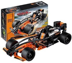 Wishkey Black Champion Racer Pullback Technic Car 137 Pcs Building Block Set