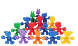 Pepperonz Animal Dolls Shape Building Blocks for Kids