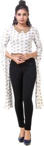 Skizo Casual Full Sleeve Printed Women's White Top