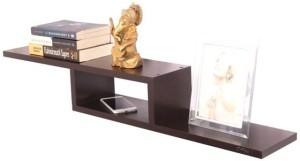 Anikaa Cavin Wall Decor Book Shelf / Wall Display Rack (Wenge). MDF Wall Shelf