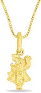 P.N.Gadgil Jewellers Temple 22kt Yellow Gold Pendant