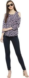 DARZI Casual 3/4th Sleeve Printed Women's Multicolor Top