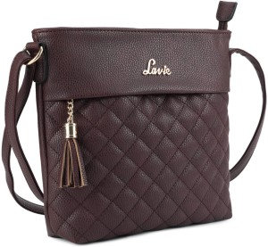 14e663cd7 Lavie Women Purple PU Sling Bag Best Price in India