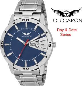 ed6f2649aa2 Lois Caron LCS 8048 BLUE DIAL DAY DATE FUNCTIONING Watch For Men Best Price  in India