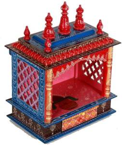 Home and Bazaar HB17KI-069 Wooden Home Temple