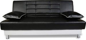 Adorn India Alexa Leatherette Double Solid Wood Sofa Bed
