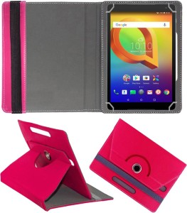 Fastway Book Cover for Alcatel A3 10 10.1 inch Pink, Cases with Holder, Artificial Leather