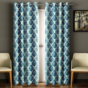Cortina Polyester Window Curtain 210 cm (7 ft) Pack of 2