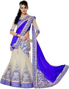 MANAV FASHION Net Embroidered Semi stitched Salwar Suit Dupatta Material