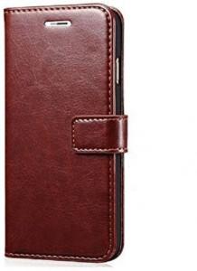 reputable site 4530c c1199 Sensational Flip Cover for Motorola Moto G5s PlusBrown, Artificial Leather