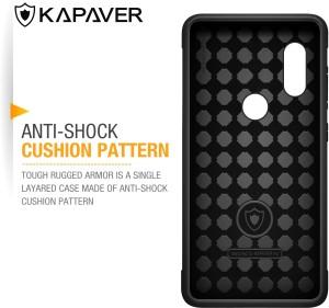the best attitude 64446 4e6a3 Kapaver Back Cover for Xiaomi Redmi Note 5 ProBlack, Plastic