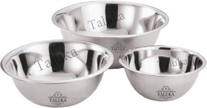 Taluka Stainless Steel Bowl Set Silver