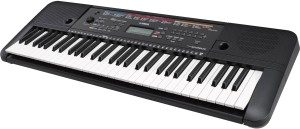 Yamaha E-263 , 61 keys keyboard with Blueberry Cover Bag, Adapter, USB LED along with keyboard Stand Digital Portable Keyboard