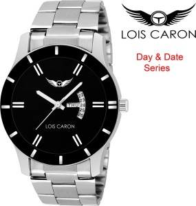 31deb5645 Lois Caron LCS 8049 BLACK DIAL DAY DATE FUNCTIONING Watch For Men Best Price  in India