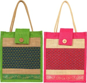 styles creation Combo Of Jute Lunch Bag/ Hot Case (HNDBG87) Lunch Bag