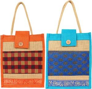 styles creation Designer Printed Jute Lunch Bag/ Hot case HNDBG88 Lunch Bag