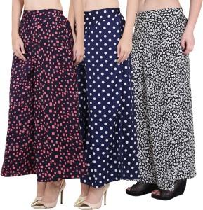 Nishaaz Fashion Flared Women's Pink, Dark Blue, Black Trousers