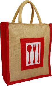 styles creation Cutlery Print Designer Jute Lunch Bag/ Insulated Hot Case Handbag HNDBG95 Waterproof Lunch Bag