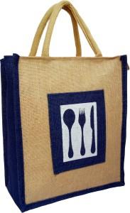 styles creation Cutlery Print Designer Jute Lunch Bag/ Insulated Hot Case Handbag HNDBG96 Waterproof Lunch Bag