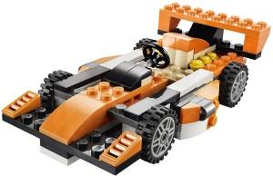 Emob Decool 119 pcs 3 in 1 Architect Sunset Speeder Car DIY Block Construction Set Toy